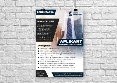 Plakat rekrutacyjny |Kancelaria prawna|